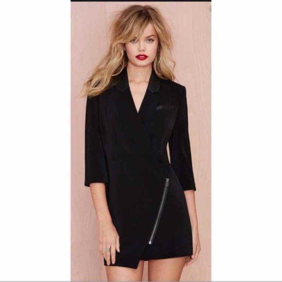 Lovers + Friends Tuxedo Blazer Dress Black size Small